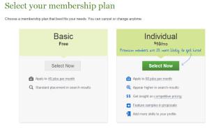 Elance Membership Plans