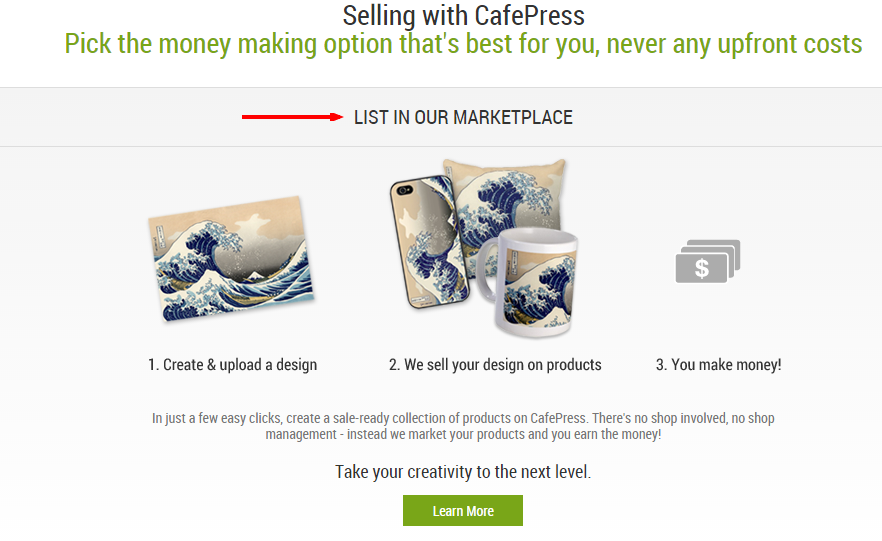 how teens can make money online with Cafe Press